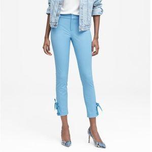Banana Republic Sloan Skinny-Fit Lace-Up Hem Pants